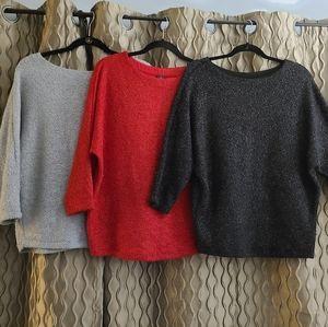3 Worthington Women Sweaters sz M & L